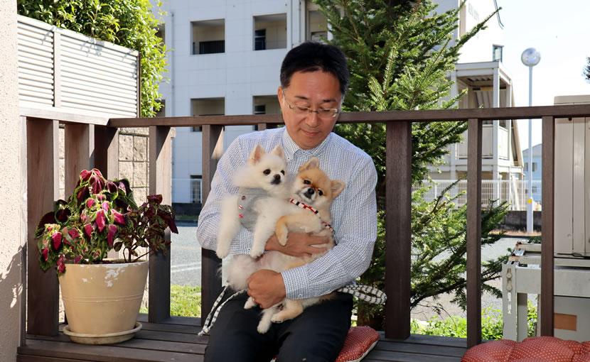 院長と愛犬